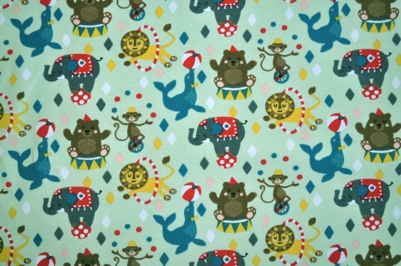 Organic stretch jersey fabric lillestoff circus world for Children s jersey fabric uk