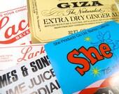 3 Separate Lots of 5 Vintage Soda Labels 1920s-1960s Range Barware Ephemera Craft Paper