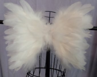 SALE! Baby toddler or adult Feather Angel Wings Soft Beautiful Costume Photo Prop Wedding Flower Girl Christening Pageant Decor HALLOWEEN