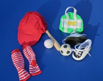 Doll Soccer Sport Set, 7 Pieces