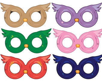Owl Masks, Paper Masks, Printable Mask, Party Ideas, Party Paper