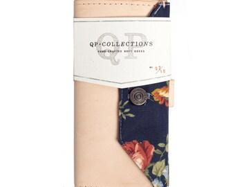 Women's - Handmade Vegtable Tan Leather Floral Wallet