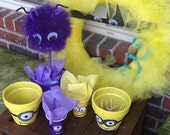 Minion Party Pack- minion wreath party wreath birthday party favor cups first birthday minion