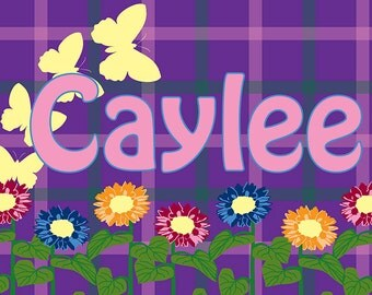 Children's Personalized Placemats, Art - Girls