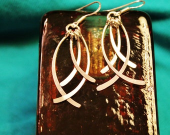 Beautiful Sterling Silver Dangle Earrings