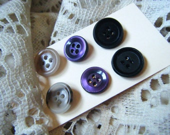 Button earrings, vintage buttons, repurposed recycled upcycled
