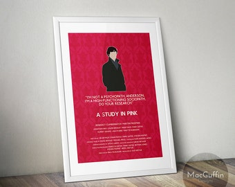 Sherlock Sherlock Holmes poster - Choose from 12 episodes (Made to order)