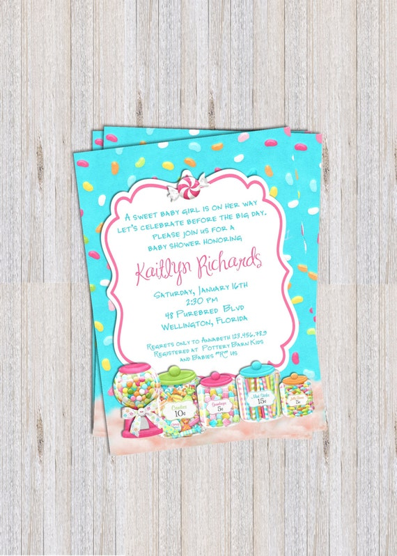 Bright Candy Shop Baby Shower Invitation