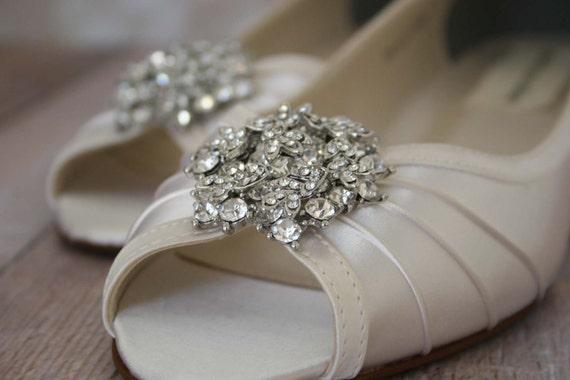 Ivory Wedding Wedge Heels: Wedding Shoes Ivory Peeptoe Wedge Wedding By