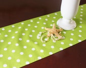 Green Table Runner Table Cloth Wedding Runner Buffet Premier Prints Polka Dot Buffet Runner Wedding Runner