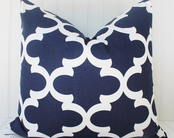 Navy Blue Pillow Covers.Navy Throw Pillow Cover. 16x16 inch Pillow.Navy Accent Pillow.Decorative Pillow Cover 18 inch