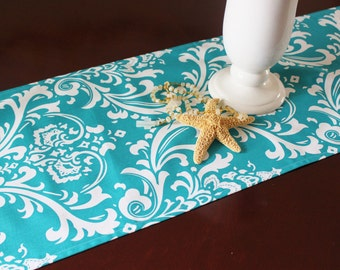 Turquoise Table Runner Table Cloth Wedding Runner Premier Prints Ozborne Table Runner