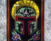 Boba Fett, Star Wars Black Velvet Painting