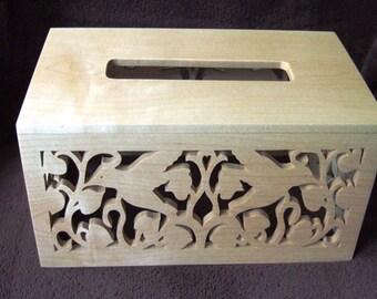 Tissue Box Holder - Rectangular - Maple or Oak or Walnut