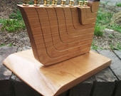 Cherry Wood Menorah for Aunt Rita