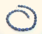 Gemstone necklace,Blue gemstone  necklace, Dumortierite gemstone necklace, Blue Denim necklace, Beaded necklace, Natural semiprecious stones