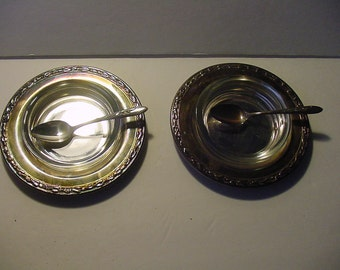 Two Serving Sets~ Carlton Silver Plate~ Spoon, Dish, Tray~ Cottage Kitchen Dining~ 6 pcs~