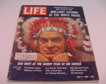 MAY 11, 1962 Bob Hope White House Nobel Party vtg LIFE MAGAZINE