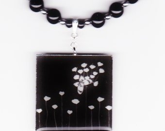 Handmade Jewelry, Bead Necklace, Butterfly Jewelry, Butterfly Necklace, Black Pendant Necklace, Butterfly Pendant Beaded Necklace, Beadwork