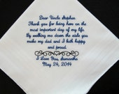 Uncle of the Bride Embroidered Wedding Handkerchief