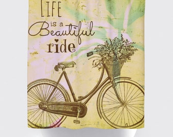 Shower Curtain And More   Bicycle Beautiful Ride | See Dropdown For Pricing  And Matching Decor