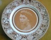 Queen Elizabeth II Commemorative Plate with Canadian Provinces