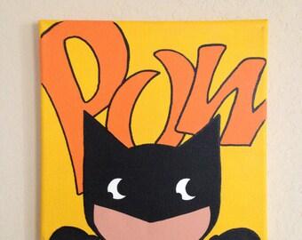 10in x 10in Batman painting