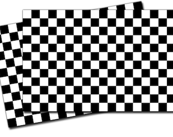 "Checkered Flag Vinyl Decal Sticker - 2 Pack 4"" x 5"" ED975"