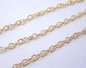 Gold Fill Chain-- Gold Fill Twisted Cable Chain 3mm-- PER FOOT (AUC-01)