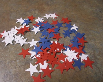 Patriotic star die cuts -120count