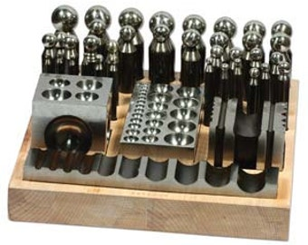 Metal Doming / Punch Set 40 Piece - Metal Working Jewelry Tools - Bench Tools-Metal Smithing