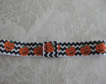 HALLOWEEN  FOE headband. Printed headband your choice size Fits newborn to adult Pumpkin