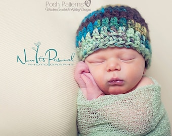 Crochet PATTERN - Crochet Pattern Hat - Crochet Patterns Men - Crochet Patterns Babies - Hat Pattern - Baby, Kids, Adult Sizes - PDF 179
