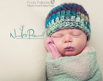 Crochet PATTERN - Crochet Pattern Hat - Crochet Patterns Men - Crochet Patterns Babies - Hat Pattern - Baby, Kids, Adult Sizes - PDF 179