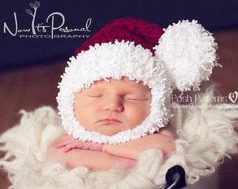 Crochet PATTERN - Crochet Santa Hat & Beard Pattern - Crochet Pattern Hat - Baby, Toddler, Child, Adult Sizes - Photo Prop - PDF 295