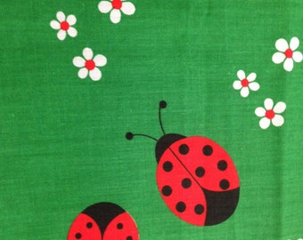 Vintage Lady Bug Fabric