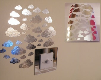 Mirror Clouds Wall Stickers 1 sheet of A4
