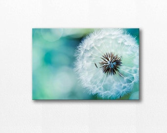 canvas art Dandelion canvas print dandelion wall art dandelion decor large canvas art dandelion photography nursery decor teal blue aqua