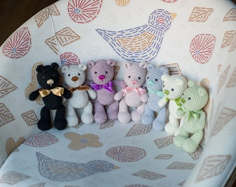 PATTERN: Little Teddy Bear - Crochet Amigurumi Pattern - Teddy Bear Crochet Tutorial - Instant Download - Printable - In English