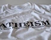 Atheist T shirt men women youth atheism no religion non prophet organization white tshirt tee gift husband father dad