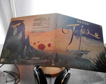 ZZ TOP Tejas On London Records 5th studio Lp 1976 Original vintage vinyl