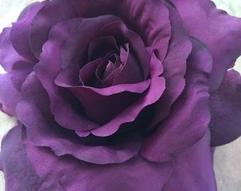 Flower hair clip - Purple Rose