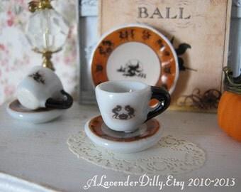 Hobgoblin Tea Cup and Saucer for Dollhouse