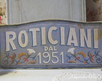 Antiqued Shop Sign for Dollhouse