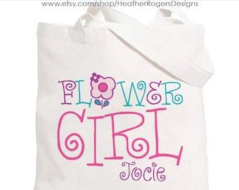 Flower Girl Bag - Personalized Flower Girl Tote bag