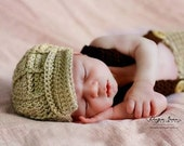 Newborn Driver Cap and Suspender Pants Set Photo Prop
