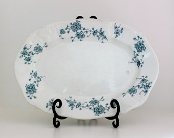 Antique transfer ware ironstone platter