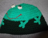 frog crochet beanie hat