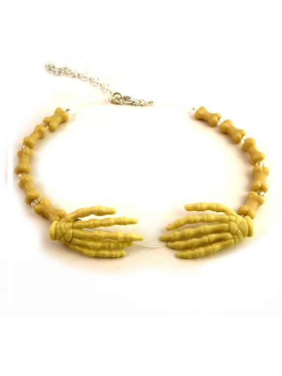 Halloween Creepy Skeleton Hands - The Literal Choker Necklace - Weirdly Cute Halloween Jewelry