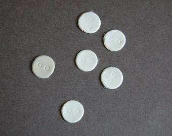 6pc - White Vinyl Die Cut Button